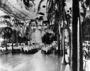 An early photo of the Cocoanut Grove. (Bizarre Los Angeles)
