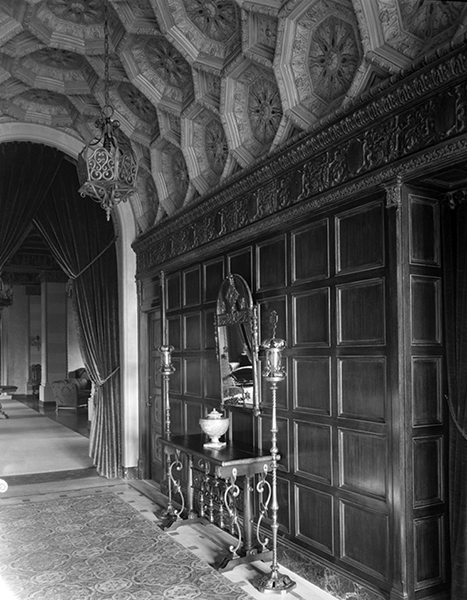 Interior of the El Royale Apartments, circa 1929-1933. The architect was architect William Douglas Lee. (California State Library) Bizarre Los Angeles