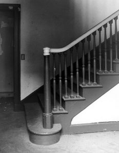 The Huerta Bungalow's stairs, circa 2005. Photo by Tom Zimmerman. (LAPL) Bizarre Los Angeles