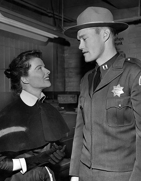 Katharine Hepburn Chuck Connors Pat and Mike 1952