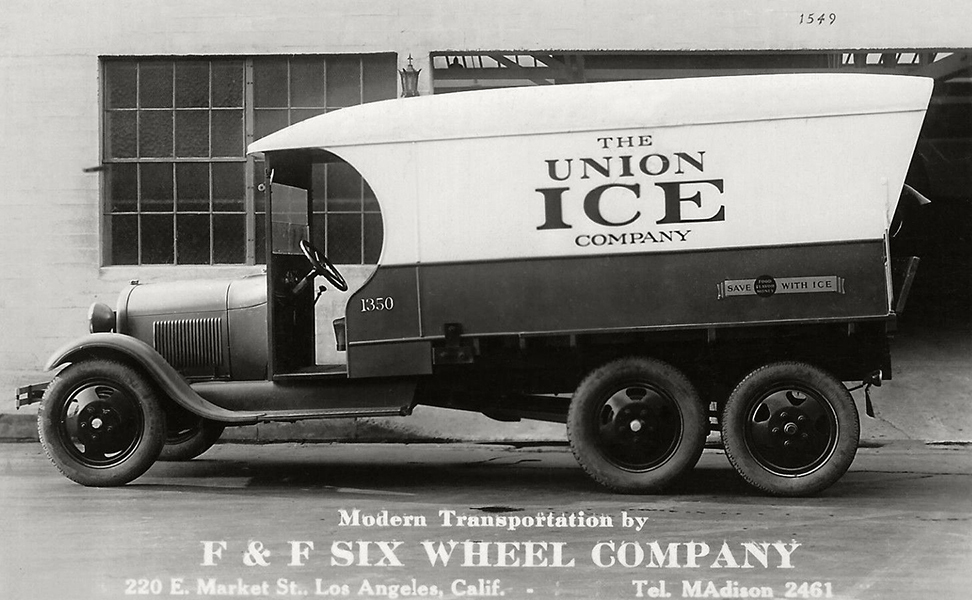 Union Ice Wagon F & F Six Wheel Company