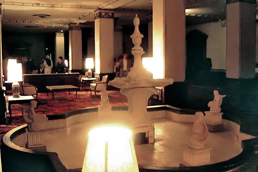 Ambassador Hotel Lobby, circa 2003. Bizarre Los Angeles