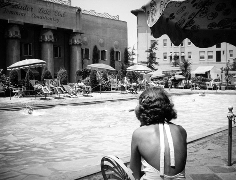 Ambassador Hotel pool 1938