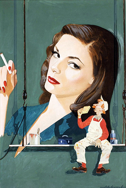 Lauren Bacall painting