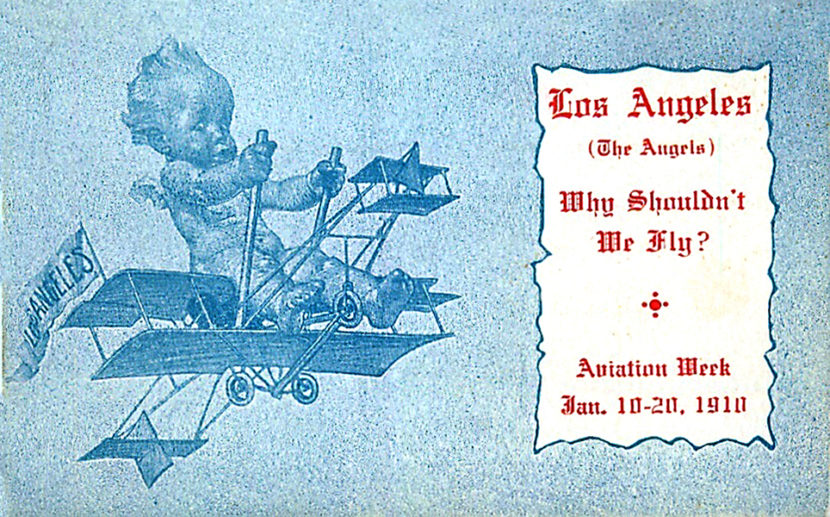 1910 air meet postcard
