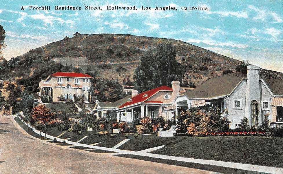 Hollywood foothills