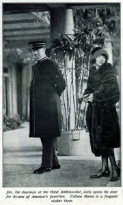 Colleen Moore at the Ambassador Hotel