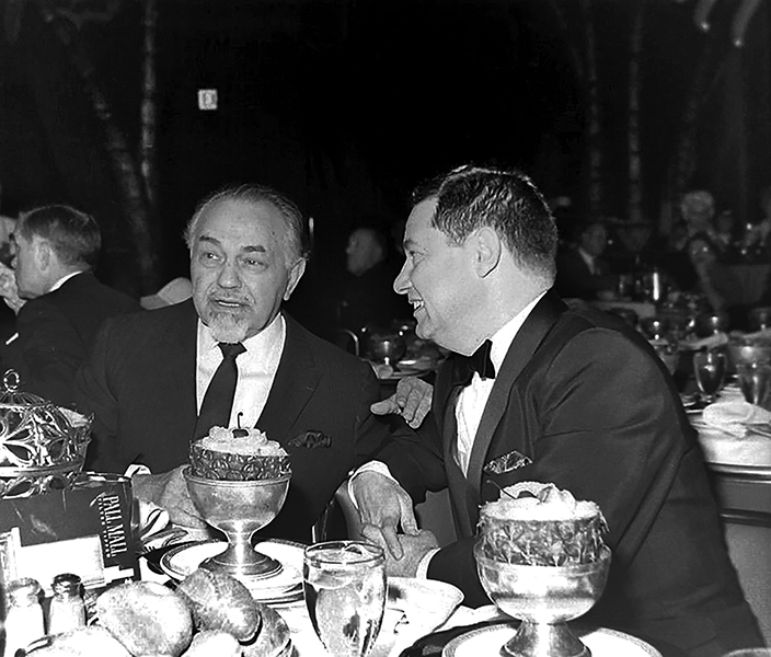 Edward G. Robinson at the Cocoanut Grove around 1956 (or thereabouts). Bizarre Los Angeles.