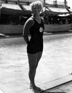 Olympic medalist Georgia Coleman at the Los Angeles Ambassador Hotel. (Bizarre Los Angeles)