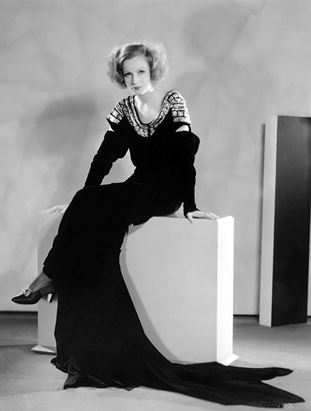 """""""It is difficult to dress Greta Garbo. She has foreign ideas about clothes that do not go well in pictures. She wants short skirts when she should have long ones. She has many dislikes. She will wear nothing with fur on it, if she can have her way. She wants neither lace nor velvet garments. She goes in for flaunting, bizarre collars and cuffs. And her figure - it is difficult to dress."""" -- Andre Ani, MGM designer (Bizarre Los Angeles)"""