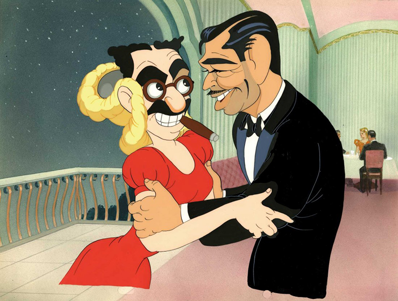 Groucho Marx Clark Gable cartoon