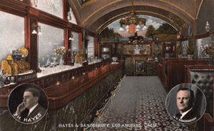 Hayes and Sanderhoff Saloon, c. 1912. (Bizarre Los Angeles)