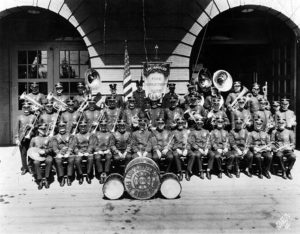 The Los Angeles Fire Department Band in 1916. (LAPL 00079163)