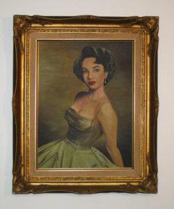 Elizabeth Taylor Oil Painting