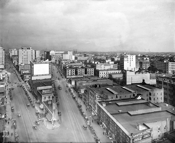 downtown Los Angeles 1917