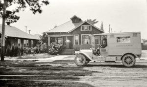 Pierce Bros. & Co. Ambulance Dayton Ave. Los Angeles, CA 1914