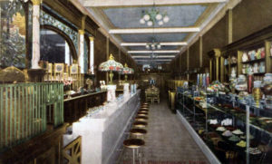 The Pin Ton Confectionery Parlor, once located at 427 S. Broadway Street in downtown Los Angeles. Postcard is from 1912 or so.