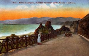 A postcard image of Santa Monica, circa 1910. (Bizarre Los Angeles)