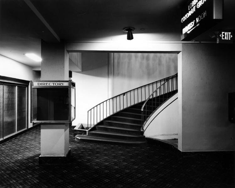 Los Angeles Ambassador Hotel Casino Level Stairs. (Bizarre Los Angeles)