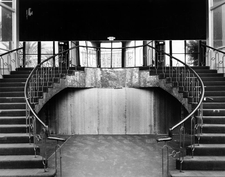 Stairs inside the Cocoanut Grove, circa 2005. Bizarre Los Angeles.