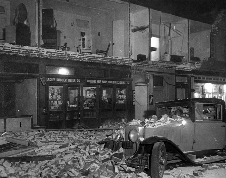 Long Beach earthquake Compton 1933