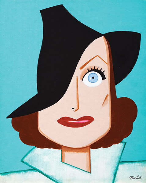 Joan Crawford caricature