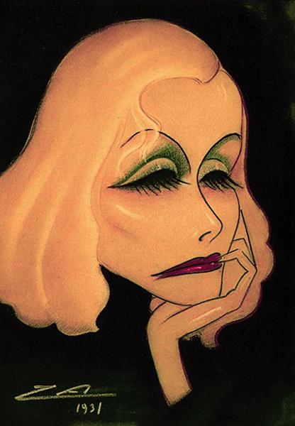 Greta Garbo caricature 1931