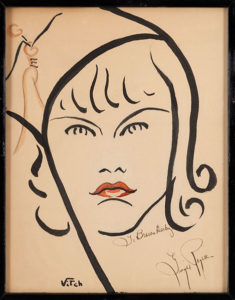 Ginger Rogers Caricature Brown Derby