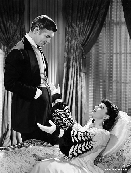 "Clark Gable and Vivien Leigh in ""Gone with the Wind"" (1939). Bizarre Los Angeles."