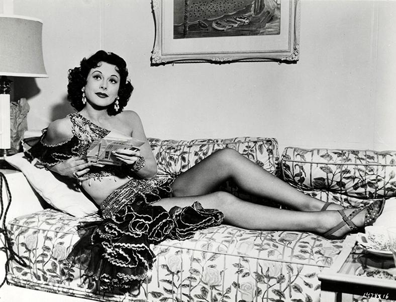 Hedy Lamarr candid