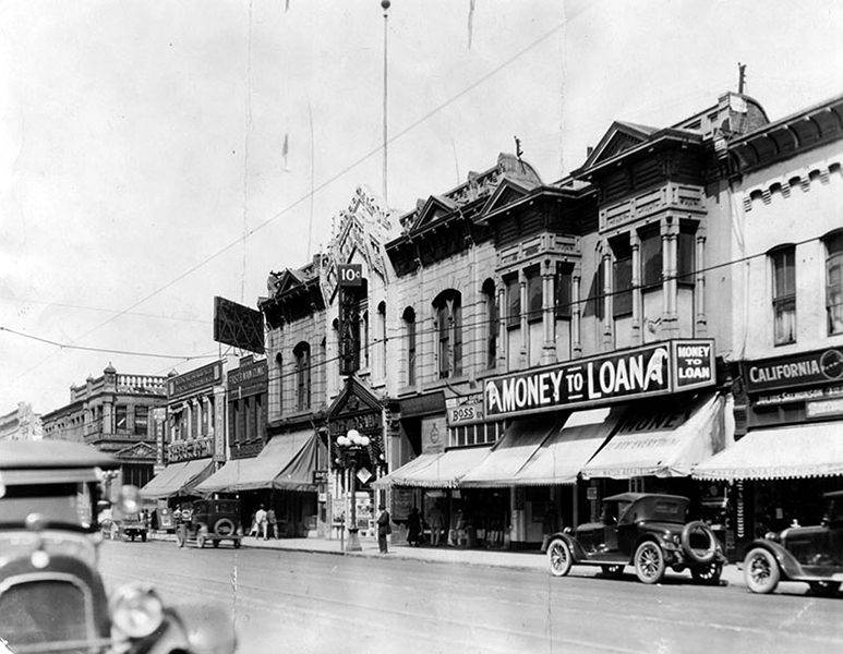 The Grand at 110 S. Main Street, circa 1925. (LAPL) Bizarre Los Angeles