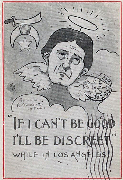 Shriner postcard Los Angeles 1907