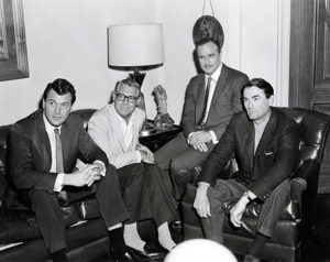 Imagine calling these guys into a conference room for a power meeting. That's exactly what happened in 1962 when Universal brought in Rock Hudson, Cary Grant, Marlon Brando and Gregory Peck to discuss their upcoming film projects. Hudson's project was A Gathering of Eagles, Grant's was Charade, Brando's was The Ugly American and Peck's was To Kill a Mockingbird. The joke at the time was that every female employee working at Universal managed to schedule their break right around the time the conference ended, just to catch a glimpse of the stars leaving the room. (Bizarre Los Angeles)