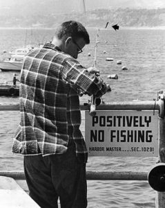 Taken at the Santa Monica Pier in 1964. (Photographer: Steve Young / 00117800)