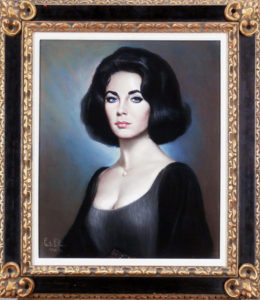 Elizabeth Taylor painting