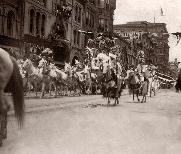 downtown parade 1908