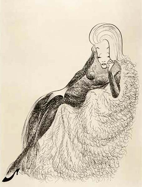 Marlene Dietrich Illustration