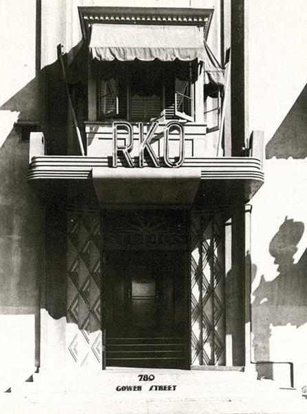 RKO studio entrance 1934