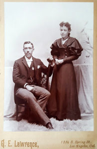 Los Angeles couple cabinet card