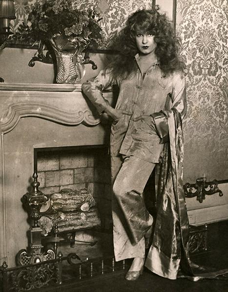 Lili Damita in pajamas