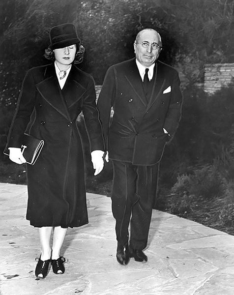 Norma Shearer Louis B. Mayer Jean Harlow funeral
