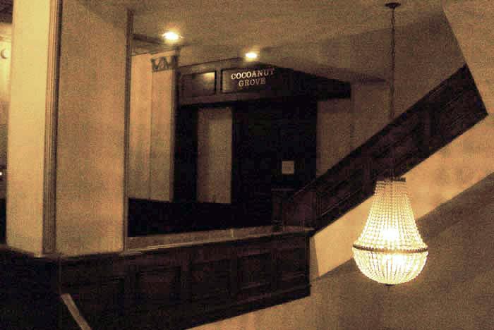 Entrance to the Los Angeles Ambassador Hotel's Cocoanut Grove. Photo by Craig Owens. (Bizarre Los Angeles)
