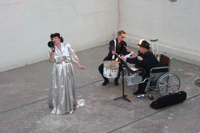 Collage Theatre members performing inside the Los Angeles Ambassador Hotel's Lido Pool, circa 2005. Bizarre Los Angeles