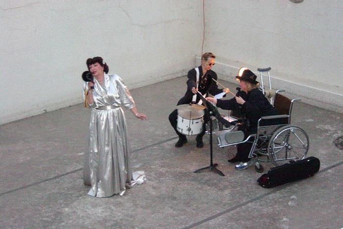 Collage Theatre members performing inside the Los Angeles Ambassador Hotel's Lido Pool, circa 2005. Bizarre Los Angeles