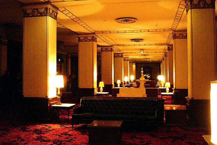 The Los Angeles Ambassador Hotel's lobby in 2003. (Bizarre Los Angeles)
