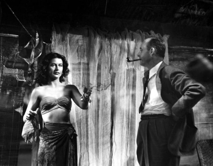 Hedy Lamarr on the set of White Cargo 1942 with director Richard Thorpe.