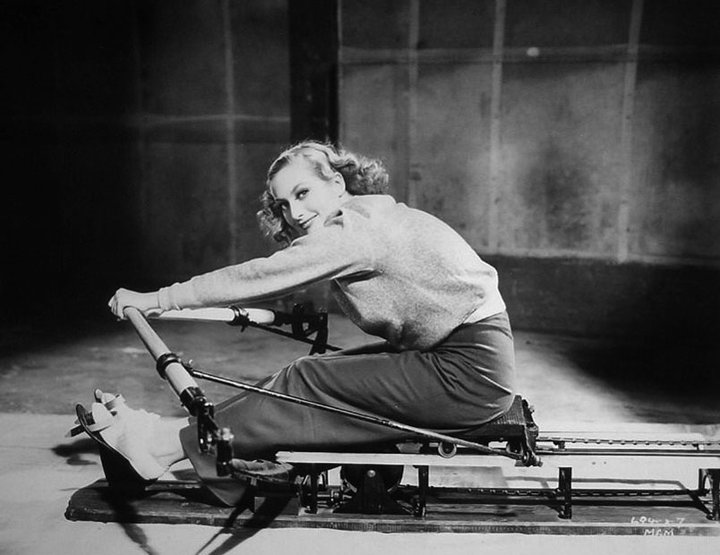 Joan Crawford Exercising