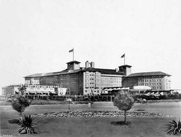 The Los Angeles Ambassador Hotel, c. 1920s. Bizarre Los Angeles