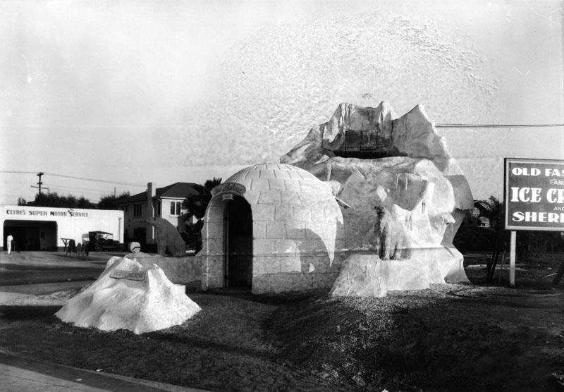 The Igloo located at 4302 W. Pico St., c. 1927. (LAPL 00068650) Bizarre Los Angeles