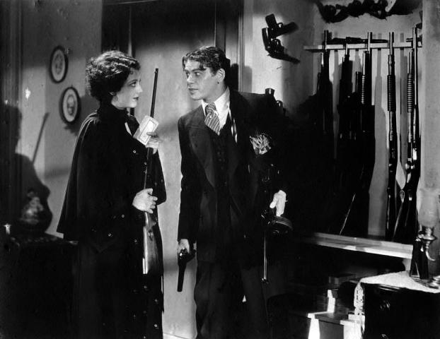 Ann Dvorak and Paul Muni in the final shootout in Scarface (1932). Bizarre Los Angeles
